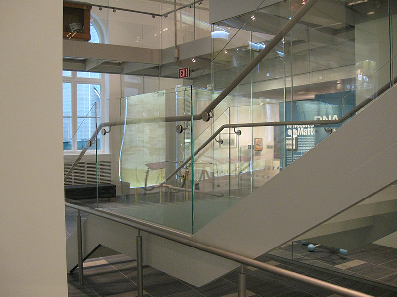 27 Jun T108 U2013 CURVED GLASS STAIR RAIL SIDE VIEW